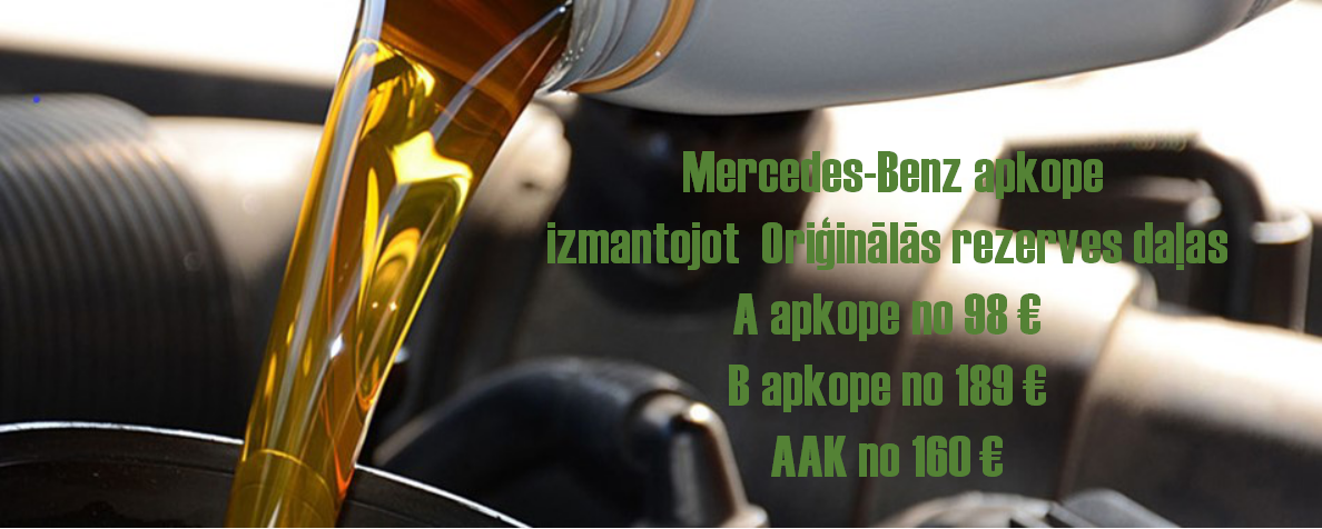 Mercedes Benz apkopes akcija!